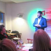 Landratskandidat Omid Atai bei der Vorstellung des Wahlprogramms der Kreis SPD