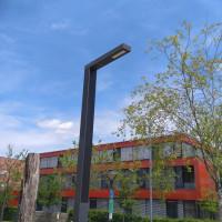LED-Solarleuchte - so am Poinger Marktplatz instaliert