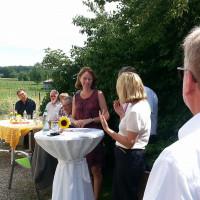 Bundesfamilienministerin Dr. Katarina Barley im Gespräch mit MdB Ewald Schurer und MdL Doris Rauscher