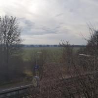 Blick vom S-Bahnhof Grub auf das Grundstück, dass für WTAZ eingeplant war